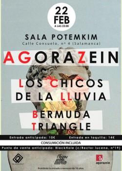 Agorazein, Los chicos de la lluvia y Bermuda triangle en Salamanca