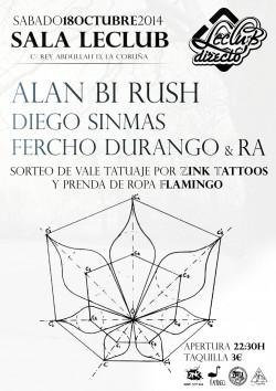 Alan Bi Rush, Diego Sinmas, Fercho Durango y Ra en La Coruña
