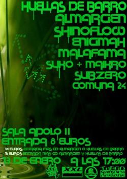 Almargen, Huellas de Barro, Shinoflow, Subzero y más en Barcelona