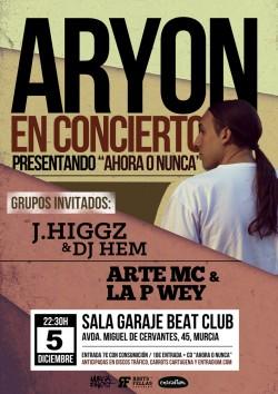 """Aryon, presentación de """"Ahora o nunca"""" en Murcia"""