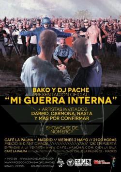 """Bako y Dj Pache presentan """"Mi guerra interna"""" en Madrid"""