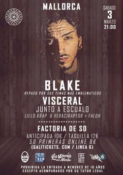 """Blake presenta """"Visceral"""" en Palma De Mallorca"""