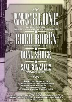 Bombony Montana, Cheb Rubën, Dual shock y San gonzález en Zaragoza