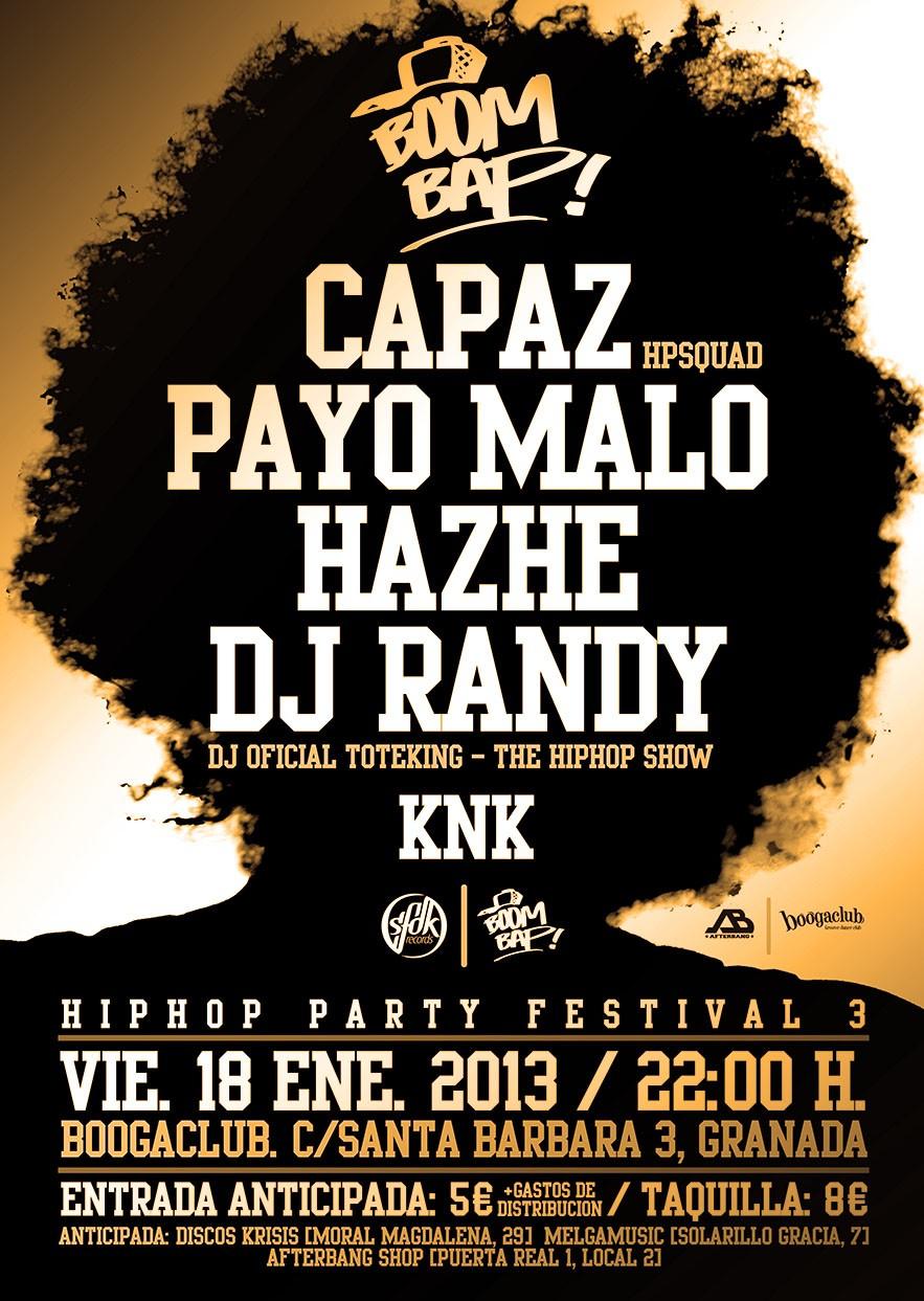 06d63e55c86d6 Boom Bap! Hip Hop Party Festival 3 en Granada » Concierto Hip Hop Groups