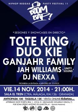 Boom Bap! Hip Hop Reggae Party Festival 11 en Granada