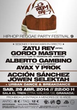 Boom Bap! Hip Hop Reggae Party Festival 9 en Granada