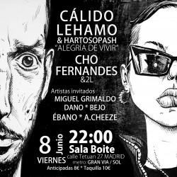 Cáliso Lehmano, Cho Fernandes y más en Madrid