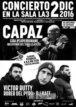Capaz & Victor Rutty, Rober del Pyro y Dj Kaef en Valencia
