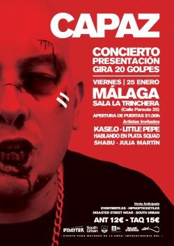 """Capaz presenta """"20 Golpes"""" en Málaga"""