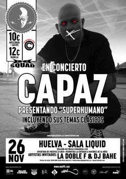 """Capaz presenta """"Superhumano"""" en Huelva"""