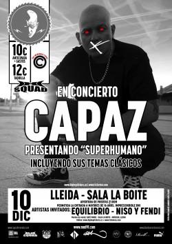 """Capaz presenta """"Superhumano"""" en Lleida"""