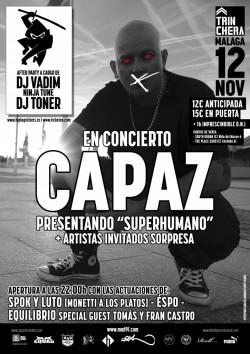 """Capaz presenta """"Superhumano"""" en Málaga"""