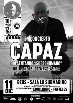 """Capaz presenta """"Superhumano"""" en Reus"""