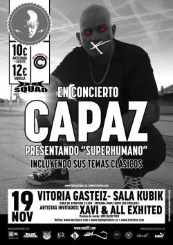 "Capaz presenta ""Superhumano"" en Vitoria"