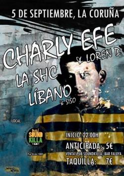 Charly Efe, Loren D, La SHC, Líbano y más en La Coruña