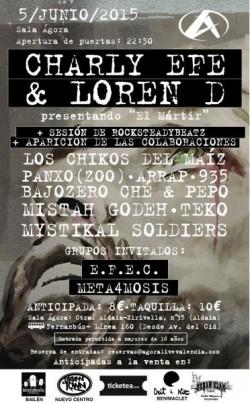 """Charly Efe y Loren D presentan """"El Mártir"""" en Aldaia"""