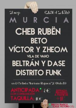 Cheb Rubën, Beto, Victor, Zheom y más en Murcia