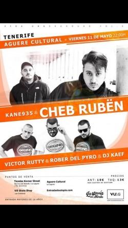 Cheb Rubën, Victor Rutty, Rober del pyro y Dj Kaef en San Cristobal de La Laguna