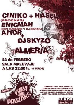 Ciniko, Pablo Hasél y Enigmah en Almería