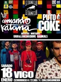 Comando katana y El Puto Coke en Vigo