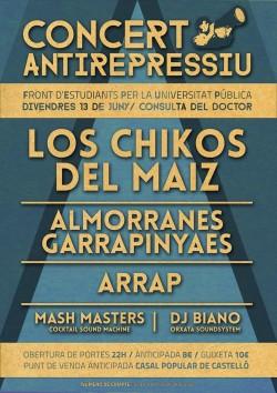 Concert Antirepressiu en Castellón
