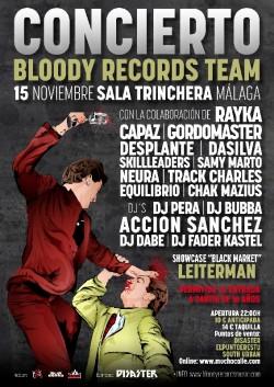Concierto Bloody Records Team en Málaga