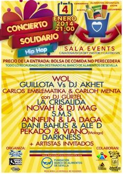 Concierto Solidario Hip Hop en Sevilla