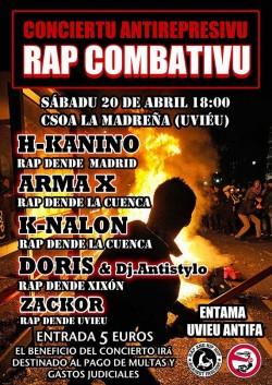 Concierto antirepresivu Rap combativu en Oviedo