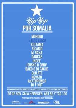 Concierto benéfico Hip Hop por Somalia en Madrid