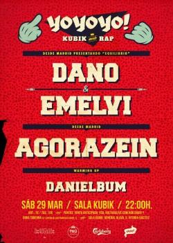 Dano, Emelvi, Agorazein y Danielbum en Vitoria