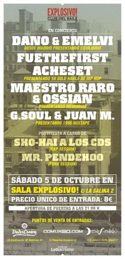 Dano, Emelvi, Fuethefirst, Acheset y más en Zaragoza