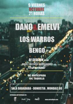 Dano, Emelvi, Los warros y Bengo en Donostia-san Sebastian