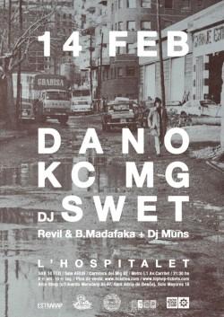 Dano, KCMG, DJ Swet, Revil y más en Hospitalet De Llobregat