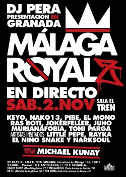 """Dj Pera presenta """"Málaga Royalz"""" en Granada"""