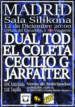 Dual TOD, El Coleta, Cecilio-G y Jarfaiter en Madrid