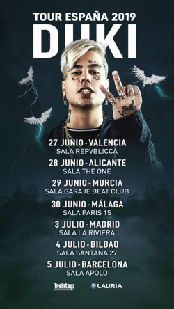 Duki Tour España 2019 en Madrid