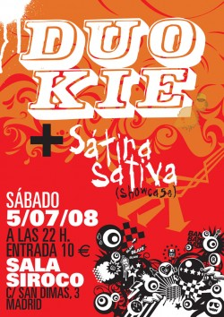 Duo Kie y Sátira Sativa en Madrid