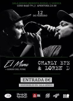 El Momo y Charly Efe en Huesca