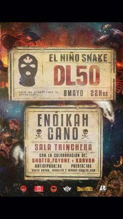 El Niño Snake, Endikah y Cano en Málaga