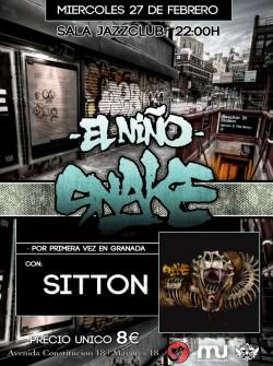 El Niño Snake y Sitton en Granada