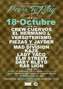 Festival Press to Play en Cartagena