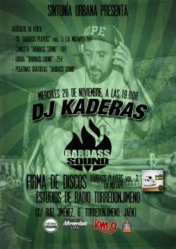 Firma de discos de Dj Kaderas (Barbass Sound) en Torredonjimeno
