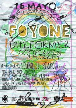 Foyone, Dheformer, Coopermen y Huzkey en Cádiz
