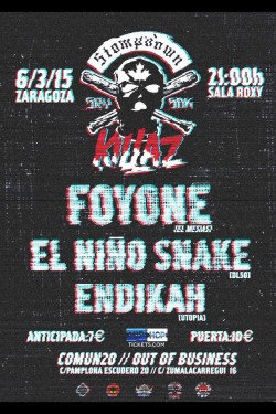 Foyone, El Niño Snake y Endikah en Zaragoza