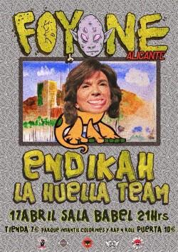 Foyone, Endikah y La Huella Team en Alicante