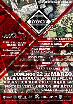 Foyone, Just a live, Hadem, Roke y más en Barcelona
