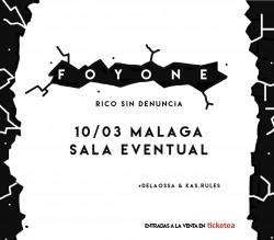 """Foyone presenta """"Rico Sin denuncia"""" en Málaga"""