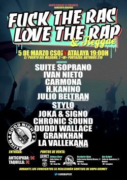 Fuck the rac Love the rap en Madrid