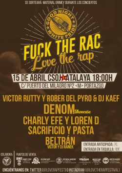 Fuck the rac Love the rap en Madrid
