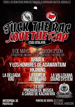 Fuck the ras love the rap en Vallecas